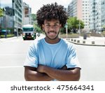 african american guy with... | Shutterstock . vector #475664341