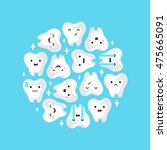 illustration of tooths on a... | Shutterstock .eps vector #475665091