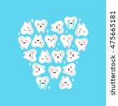 illustration of tooths on a... | Shutterstock .eps vector #475665181