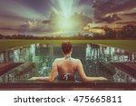 vacation lifestyle scene of... | Shutterstock . vector #475665811
