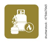 camping stove with gas bottle...   Shutterstock .eps vector #475667065