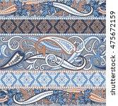 boho style seamless pattern.... | Shutterstock .eps vector #475672159
