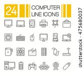 computer hardware icons. pc... | Shutterstock .eps vector #475680037