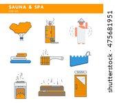 bath and sauna   set of line... | Shutterstock .eps vector #475681951