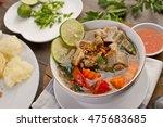 sop buntut  oxtail soup ... | Shutterstock . vector #475683685