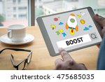 boost your business computing... | Shutterstock . vector #475685035