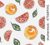 vector seamless pattern with... | Shutterstock .eps vector #475689541