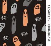 ghosts design pattern. happy... | Shutterstock .eps vector #475689751