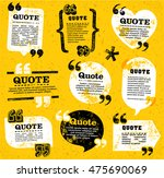 big set of vector grunge quote...