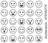 set of emoticons. set of emoji. ... | Shutterstock .eps vector #475700779