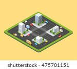 the 3d crossroads of the big... | Shutterstock .eps vector #475701151