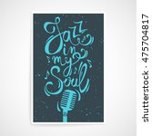 vector creative poster with ... | Shutterstock .eps vector #475704817