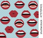 set lips female d icons vector... | Shutterstock .eps vector #475709431