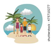 summer vacation holiday icon... | Shutterstock .eps vector #475710277