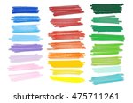 colored markers painted. raster ... | Shutterstock . vector #475711261