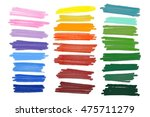 colored markers painted. raster ... | Shutterstock . vector #475711279