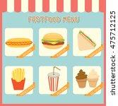 illustration vector of fastfood ... | Shutterstock .eps vector #475712125
