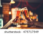 two friends toasting with... | Shutterstock . vector #475717549