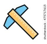 t square vector icon
