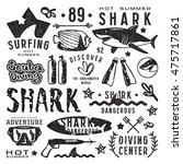 set of graphic elements. scuba...   Shutterstock .eps vector #475717861