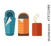 sleeping bags set. camping... | Shutterstock .eps vector #475721989