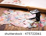 old postage stamps from various ... | Shutterstock . vector #475722061