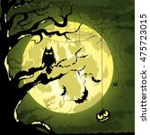 vector halloween characters and ... | Shutterstock .eps vector #475723015