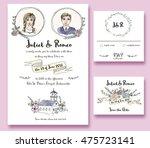 wedding invitation card  rsvp... | Shutterstock . vector #475723141