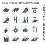 steel production and pipe... | Shutterstock .eps vector #475733557