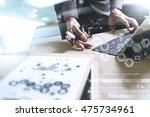 medical technology concept.... | Shutterstock . vector #475734961