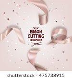 grand opening beige  invitation ... | Shutterstock .eps vector #475738915