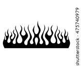 flame tattoo tribal vector... | Shutterstock .eps vector #475740979