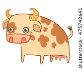 Funny Cow Illustration Vector