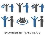 thief arrest glyph icons.... | Shutterstock . vector #475745779