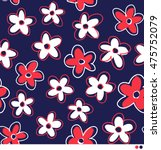 simple flower pattern background | Shutterstock .eps vector #475752079