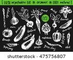 hand drawn sketch of vegetables ... | Shutterstock .eps vector #475756807