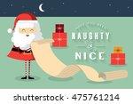 christmas naughty or nice list... | Shutterstock .eps vector #475761214
