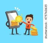 business concept cartoon... | Shutterstock .eps vector #475763635