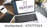 report digital homescreen... | Shutterstock . vector #475777315