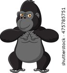 strong gorilla cartoon | Shutterstock .eps vector #475785751