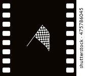 the squared flag. starting... | Shutterstock .eps vector #475786045