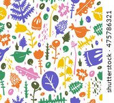 colorful seamless pattern  ... | Shutterstock .eps vector #475786321
