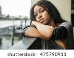 african american depressive sad ... | Shutterstock . vector #475790911