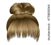bun of hairs with fringe light... | Shutterstock .eps vector #475800064