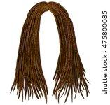 trendy african long  hair... | Shutterstock .eps vector #475800085