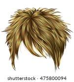 trendy woman short  hairs ... | Shutterstock .eps vector #475800094