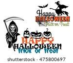 eerie happy halloween posters...   Shutterstock . vector #475800697