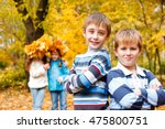 portrait of two boys of a... | Shutterstock . vector #475800751