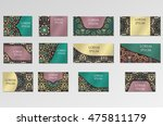 templates set. business cards ... | Shutterstock .eps vector #475811179