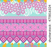 tribal seamless pattern.... | Shutterstock .eps vector #475816324